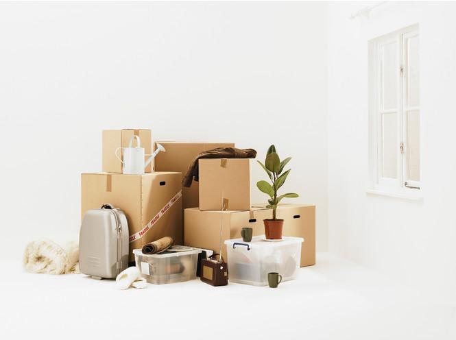 Вещи упакованы и готовы к переезду