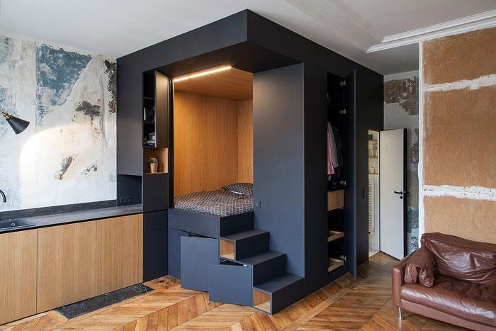 Спальное место в виде куба