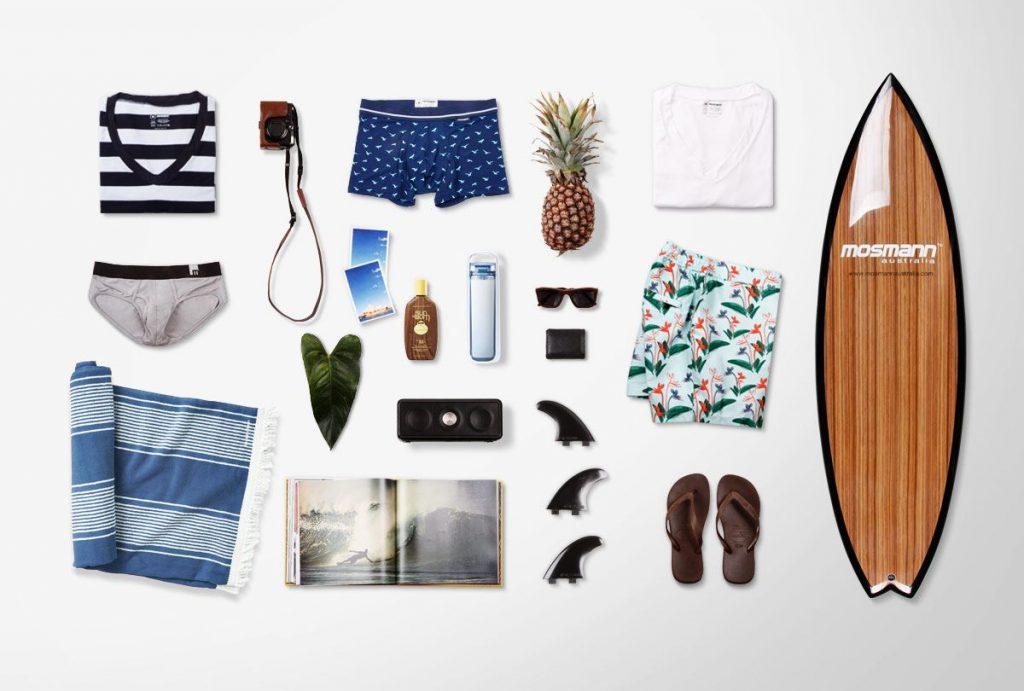 Фото с вещами сёрфера