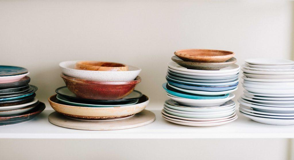 Вся посуда хранится в одном месте