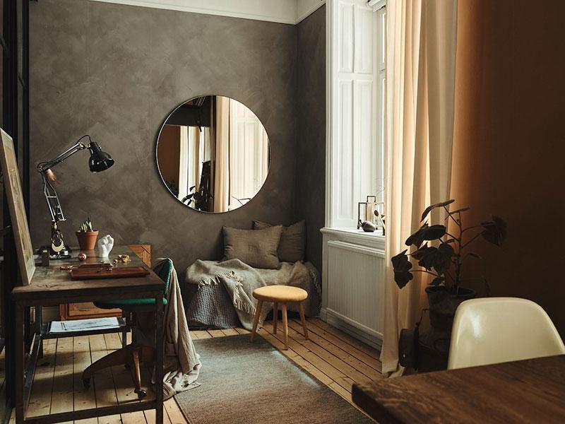 Маленькая комната после уборки