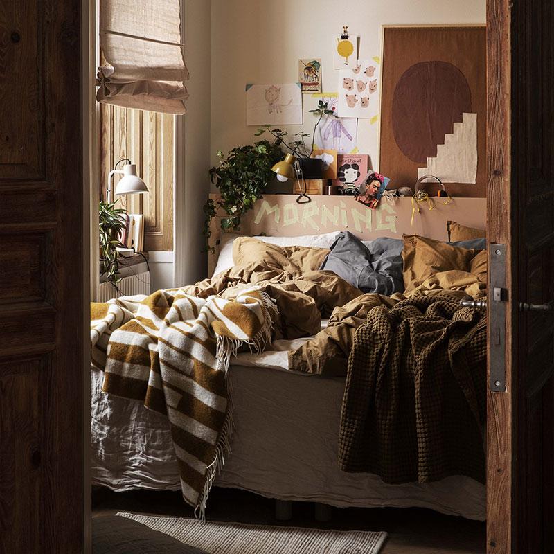 Незаправленная постель не нарушит концепцию ваби-саби