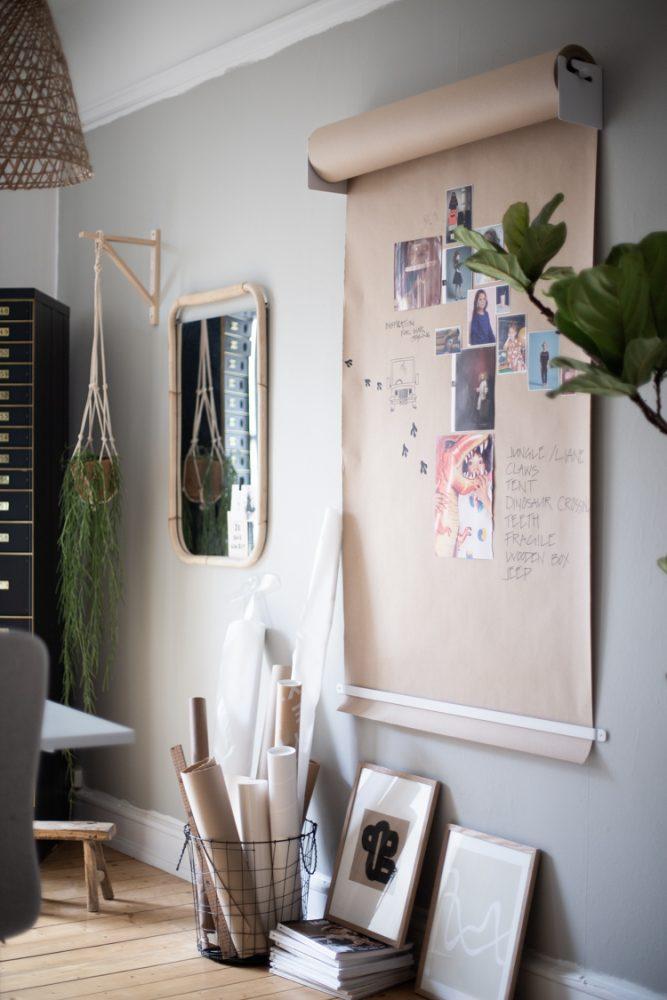 Рулон бумаги успешно заменит доску для рисования