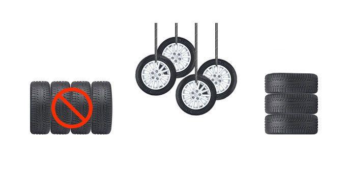 Правила хранения шин в сборе на дисках