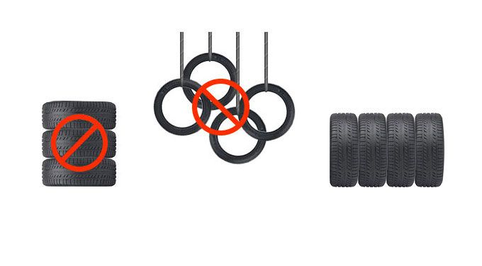Правила хранения шин без дисков