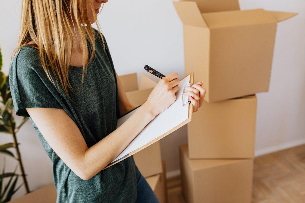 Составление плана по упаковке вещей