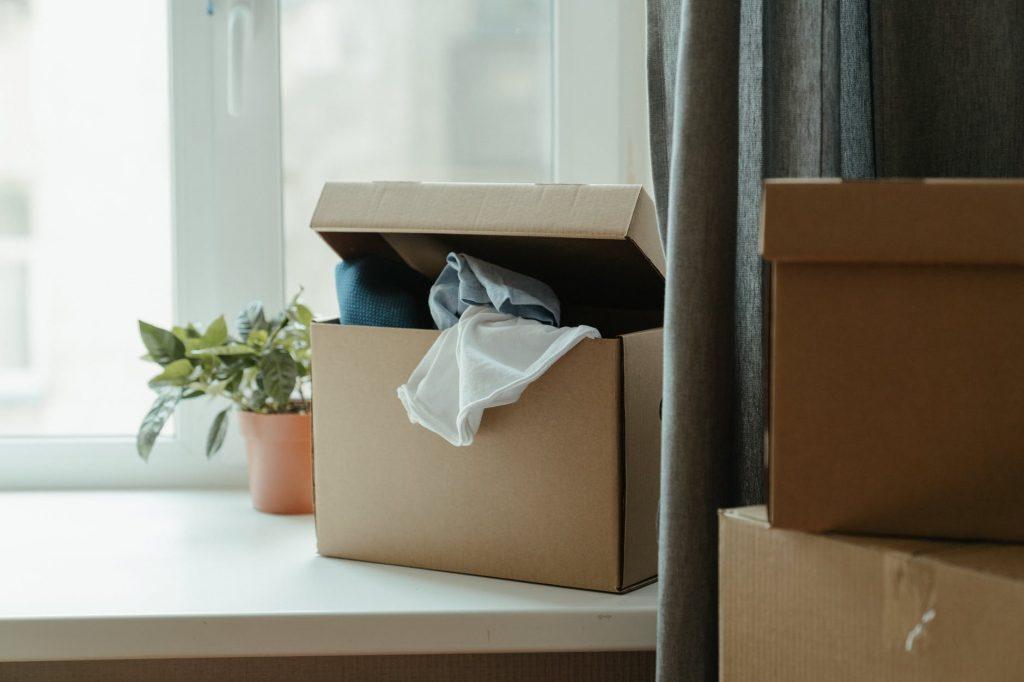 Стандартные коробки для хранения вещей