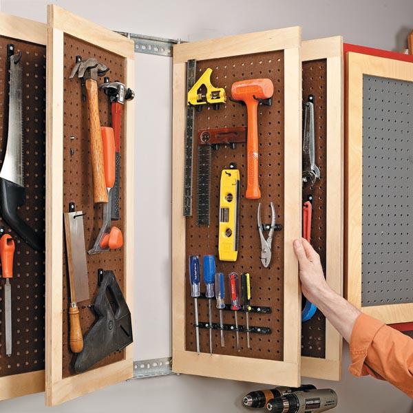 Перфорированная система хранения для инструментов
