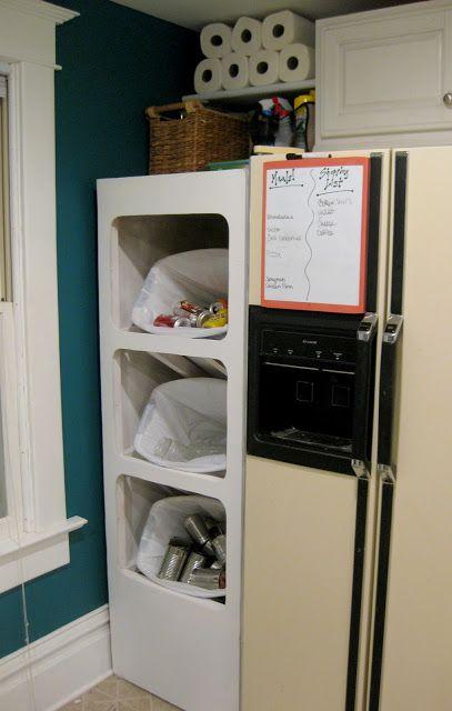 Использование бельевого шкафа для сортировки отходов