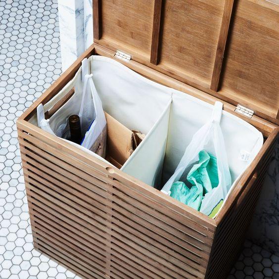 Использование бельевой корзины для отходов