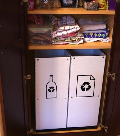 Контейнеры для отходов в шкафу