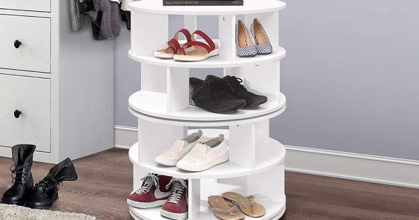 Современная многоярусная обувница