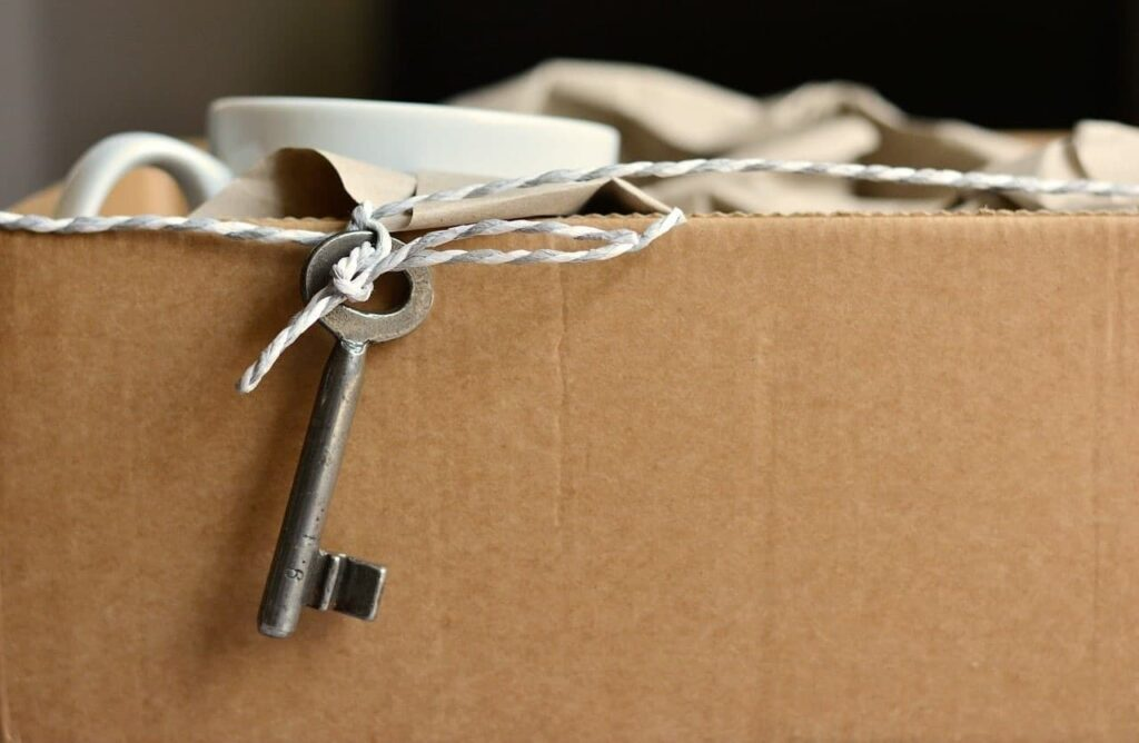Вещи, упакованные для переезда