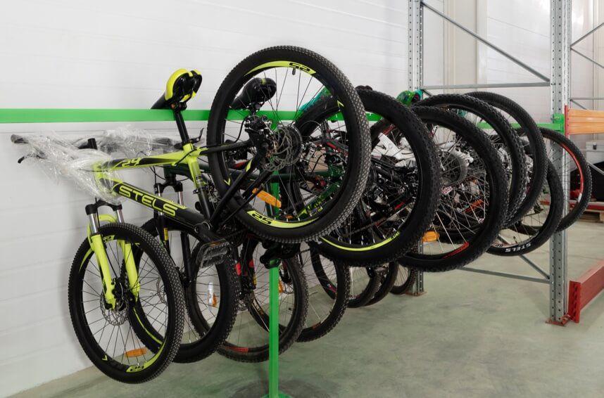 Хранение велосипедов на складе Чердака