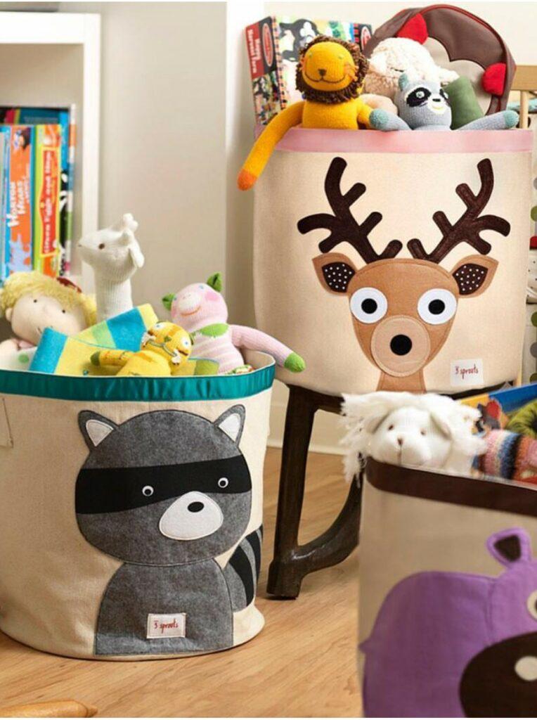 Мягкие корзины для игрушек