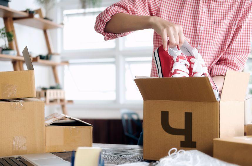 Упаковка обуви для сдачи на хранение