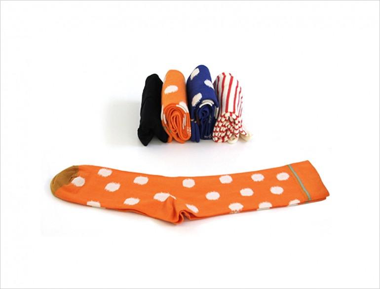 Носки, сложенные вертикально