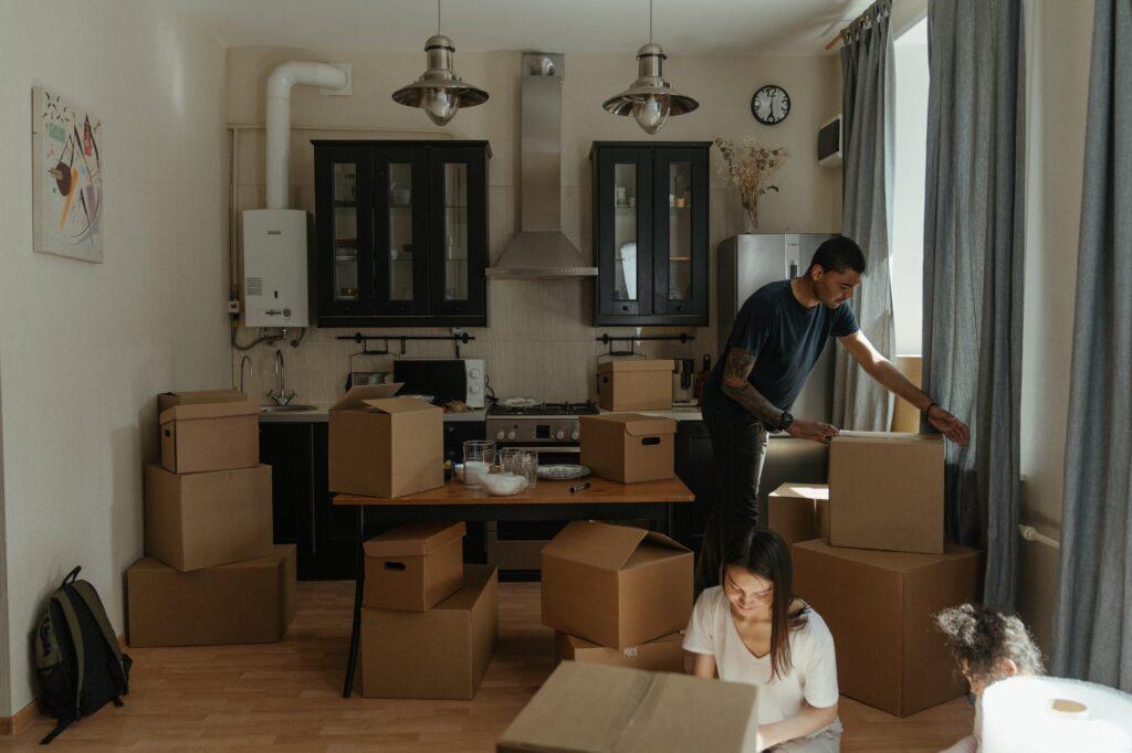 Сборы вещей для переезда