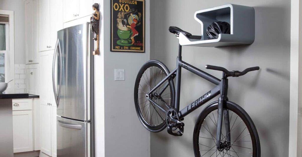 Хранение велосипеда в подвешенном виде