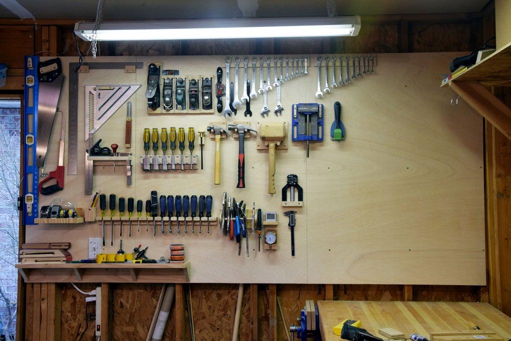 Настенное хранение инструментов