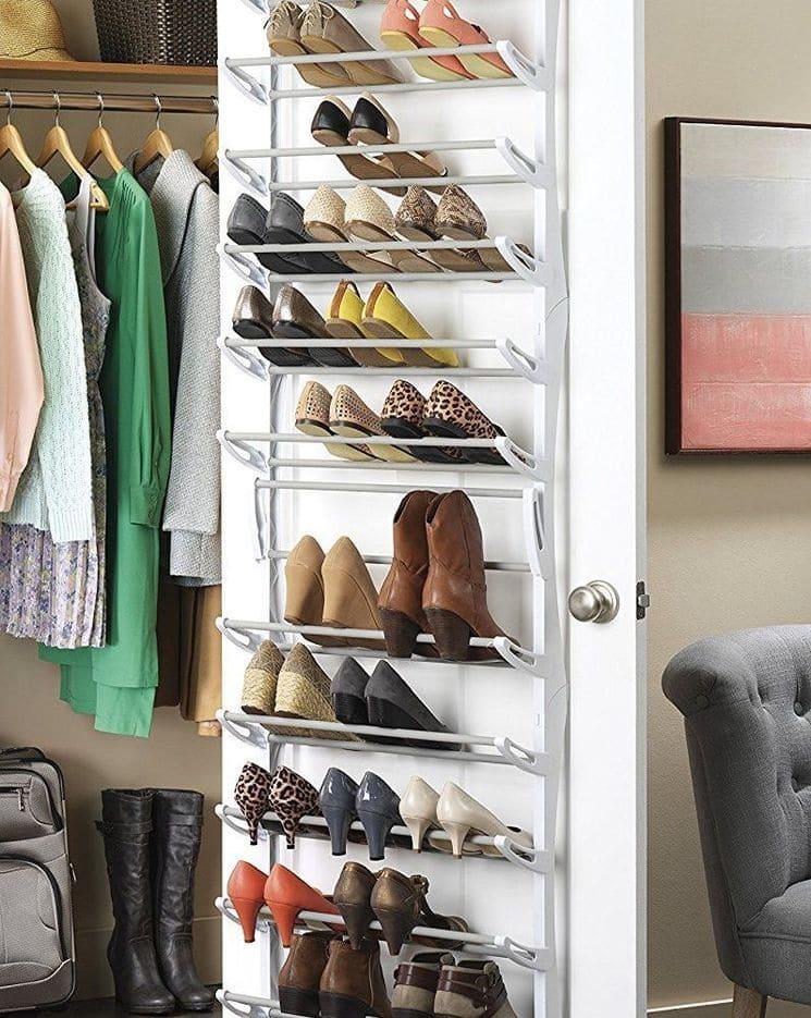 Подвесное хранение обуви на двери в шкафу